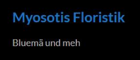 Myosotis Floristik